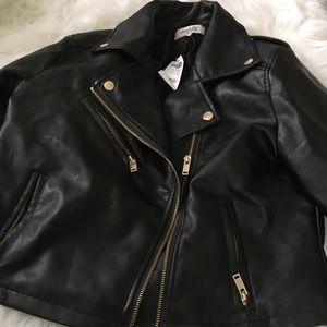 Jackets & Blazers - Leather jacket junior L